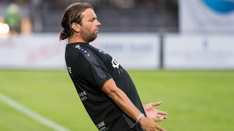 Niederlage im letzten Spiel: Der scheidende Brühl-Trainer Heris Stefanachi. (Michel Canonica)