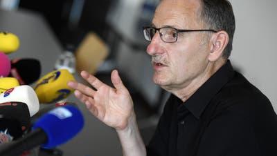 «Abgrundtiefes Misstrauen»: SP-Regierungsrat Mario Fehr trat an Freitag vor die Medien. (Keystone)