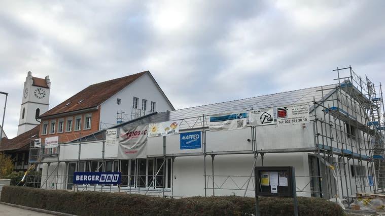 Das reformierte Kirchgemeindehaus anlässlich der Renovation von 2018. (Silvia Stähli)