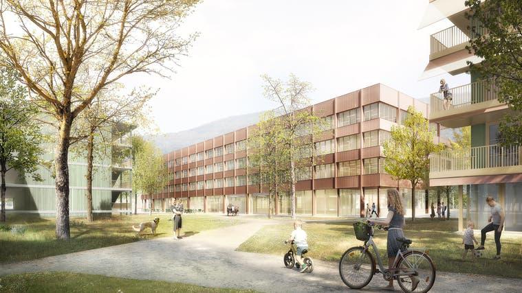 Campus Technik Grenchen: Das Siegerprojekt von Stähelin Partner Architekten AG aus Basel. (Zvg)
