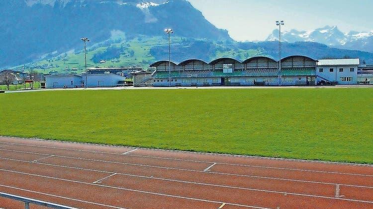 Das Innerschweizerische Schwingfest am 4. Juli auf der Sportanlage Wintersried findet ohne Zuschauer statt. (Bild:Thomas Bucheli/bote.ch)