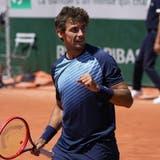 Henri Laaksonen steht zum ersten Mal in der dritten Runde eines Grand-Slam-Turniers. (Michel Euler / AP)