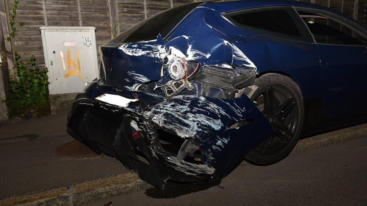 Ferrari weg, Führerausweis weg, Freiheit weg: Der 22-jährige Ferrari-Fahrer kriegt die Härte des Gesetzes zu spüren. (zvg/Kapo ZH)
