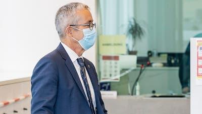 Der Baselbieter Regierungsrat Thomas Weber verweigerte vor Gericht seine Aussage. (Kenneth Nars)