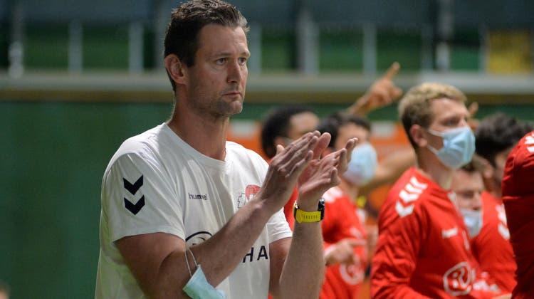 «Die Resultate in der Hauptrunde waren richtig gut», sagt Trainer Martin Prachar, der seinen Vertrag beim TV Solothurn verlängert hat. (Hans Peter Schläfli)