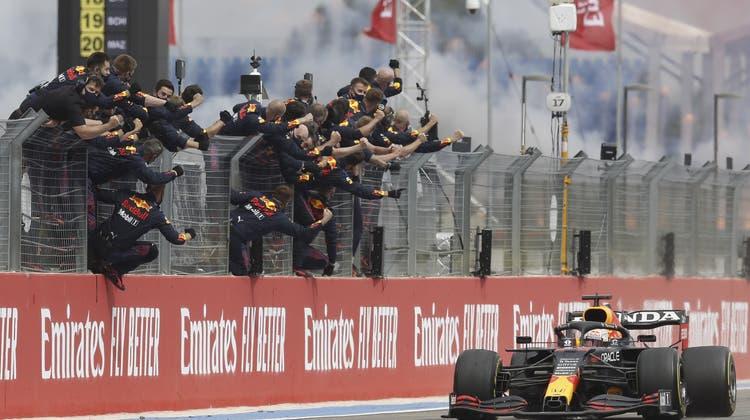 Max Verstappen hat in Frankreich seinen dritten Saisonsieg eingefahren. (Keystone)