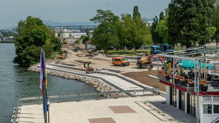 Beim China-Restaurant neben dem Rhein-Center in Weil ist der neue Park eingerichtet worden. (Nicole Nars-Zimmer)