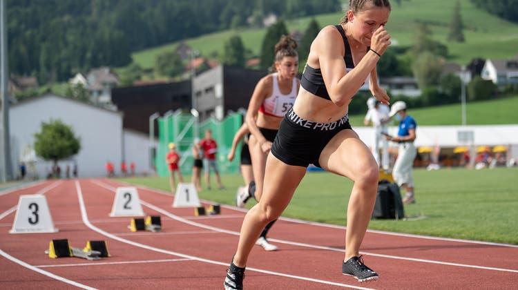 Auch ohne Zuschauer waren die Leistungender jungen Athletinnengut. (Lorenz Reifler)