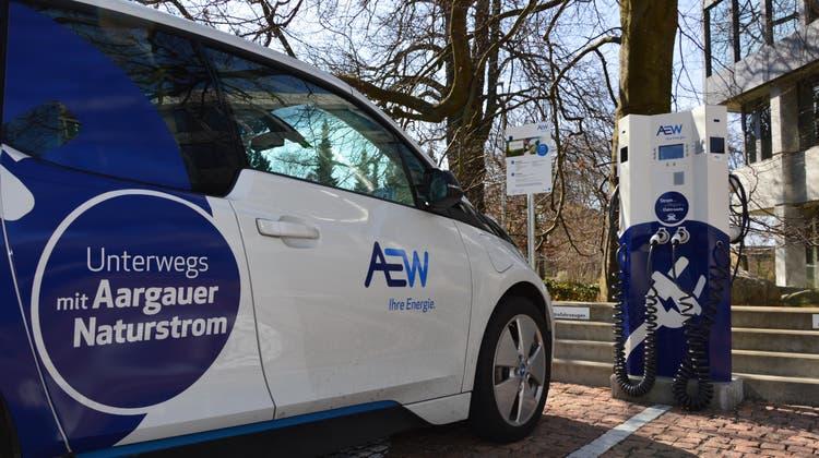 E-Mobilität gewinnt bei der AEW Energie AG an Fahrt. Aarau könnte zu einem Vorbild in Sachen nachhaltige Mobilität werden. (Zur Verfügung gestellt)