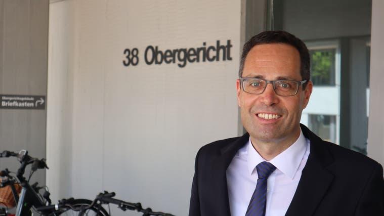 Stephan Hartmann aus Suhr und aufgewachsen in Kölliken, war bisher Oberrichter und hat als Grüner den Sprung ans Bundesgericht geschafft. (Peter Weingartner / Aargauer Zeitung)