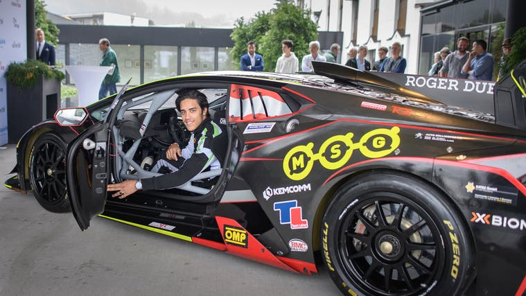 Der Abtwiler Profi Rennfahrer Lucas Mauron (Bild: Michel Canonica)
