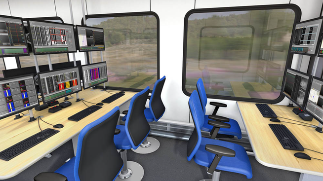 Visualización de trenes de diagnóstico de interferencias de radio en el interior.