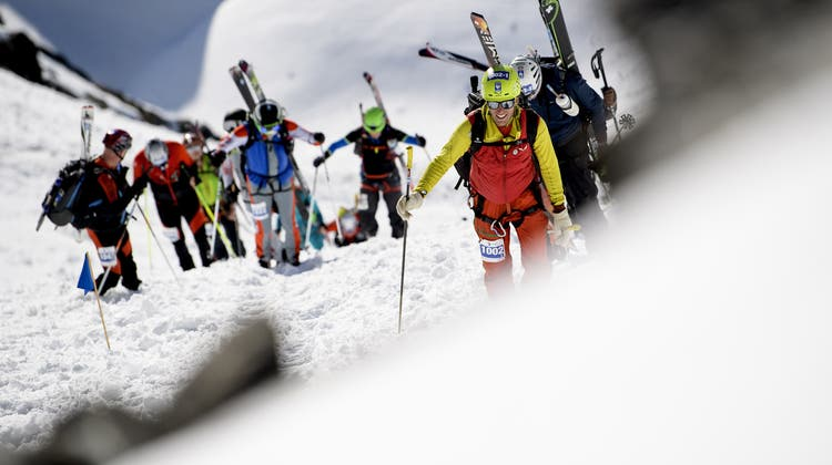 Das alpine Renne«Patrouille des Glaciers» 2018. (Keystone)