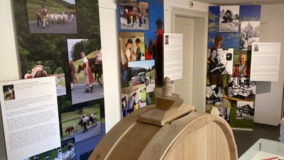 Blick in die Sonderausstellung «Intensive Zeiten – Frauen und Brauchtum» im Erdgeschoss des Appenzeller Brauchtumsmuseums am Dorfplatz in Urnäsch. (Bild: PD)
