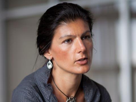 Positioniert sich gegen das Gendern: Die deutsche Linken-Politikerin Sahra Wagenknecht.