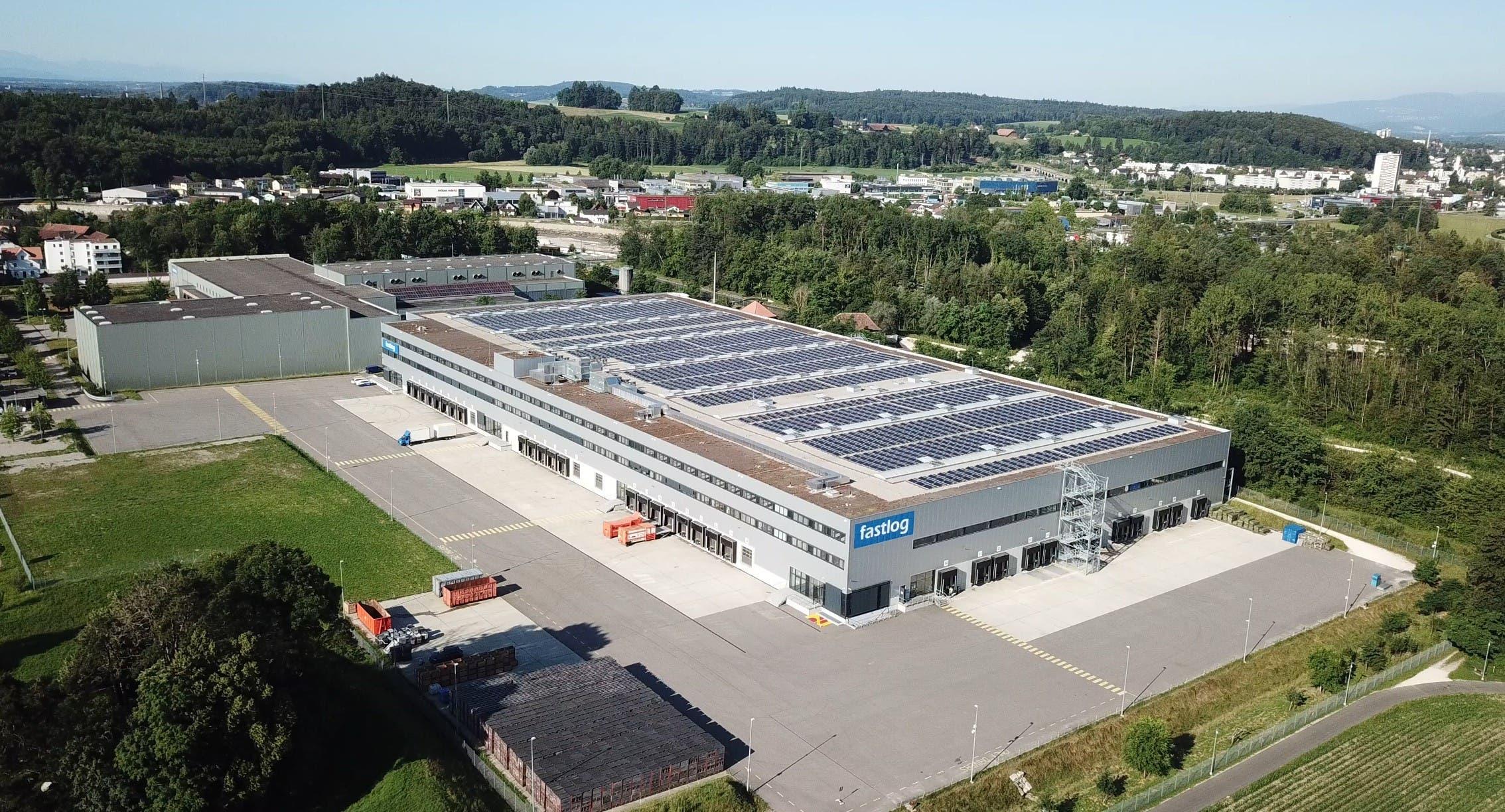 Das Gelände der Fastlog AG aus der Luft gesehen.