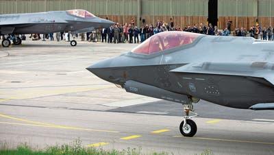 Fliegt er bald für die Schweiz? US-Jet F-35.(Payerne, 7. Juni 2019) (Peter Klaunzer/ Keystone)
