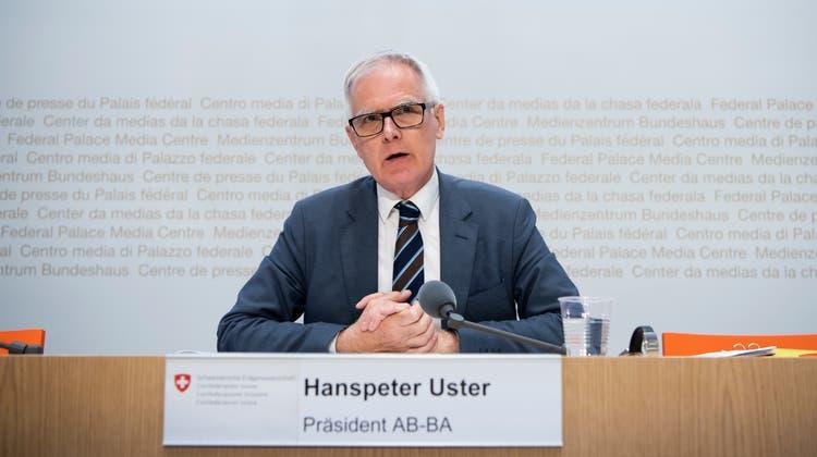 Geht es nach der Geschäftsprüfungskommission, soll die Aufsicht über die Bundesanwaltschaft (AB-BA) von Hanspeter Uster gestärkt werden. (Keystone)