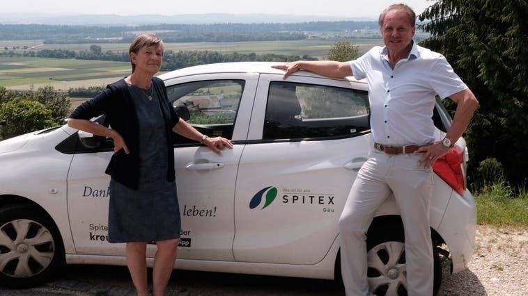 Yvonne Berner übergibt das Präsidium von Spitex Gäu an Max Misteli. (Zvg)