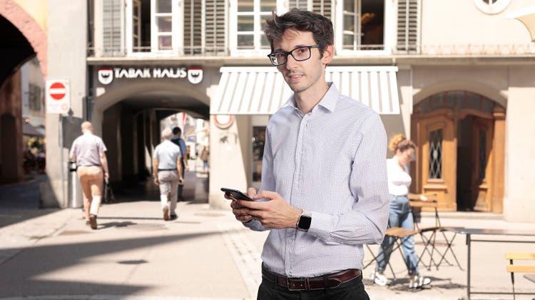 Mathias Wellig (34) ist CEO von Ubique. (Britta Gut)