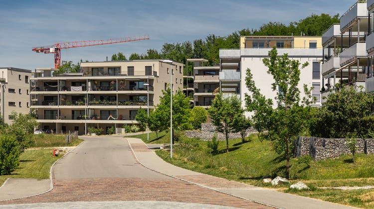 Das Esterli-Flöösch-Quartier in Staufen, eine der Neubau-Siedlungen. (Chris Iseli)