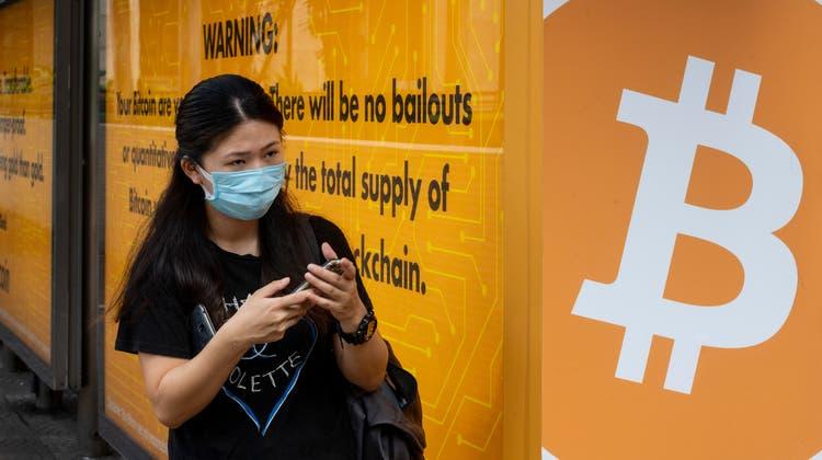 Bitcoin ist in China omnipräsent. Das gefällt der Regierung gar nicht. (Sopa Images / LightRocket)