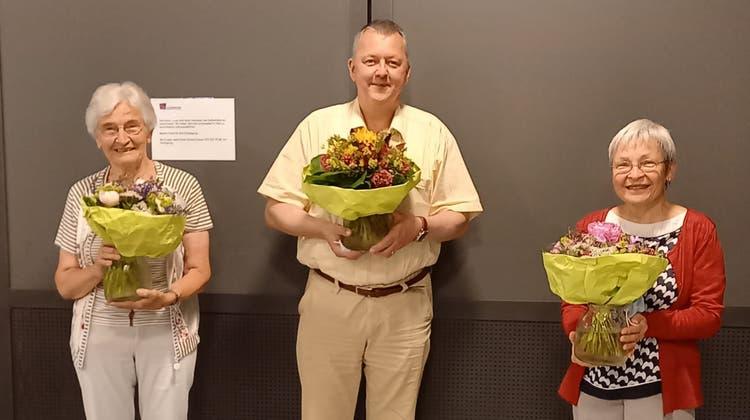 Nelly Rechberger, Ueli Stump und Idda Altherr (von links). (Bild: PD)