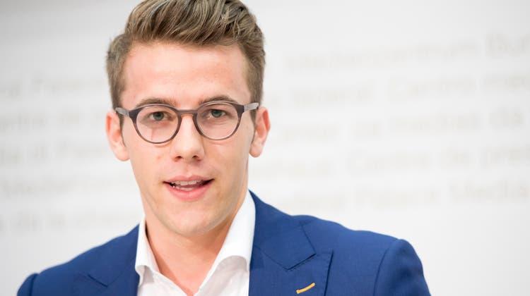 Noch ist er nicht im Ziel: FDP-Nationalrat Andri Silberschmidt, der Initiant der Initiative für eine Erhöhung des Rentenalters. (Anthony Anex / KEYSTONE)