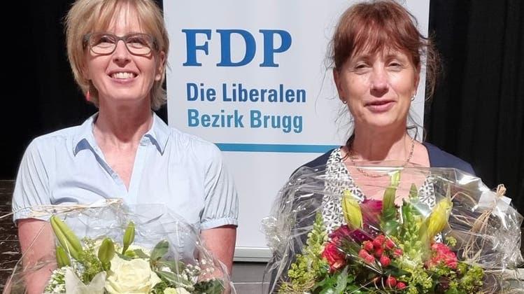 Anita Bruderer (links) aus Windisch und die ehemalige Grossrätin Martina Sigg aus Schinznach-Dorf bilden das Co-Präsidium. (Bild: zvg)
