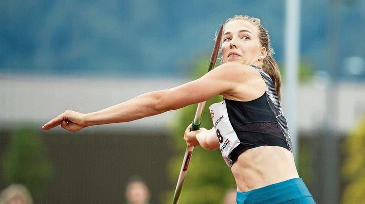 Muss in Langenthal eine hohe Punktzahl erreichen: Siebenkämpferin Géraldine Ruckstuhl aus Altbüron. (Bild: Philipp Schmidli (Luzern, 3. Juli 2020))