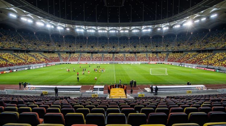 Die Arena Nationala in Bukarest. (Bild: Gabriele Putzu/TI-PRESS)
