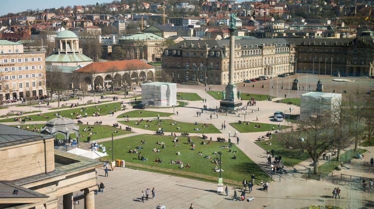Der Schlossplatz in Stuttgart: Vielleicht taucht hier im Oktober das«Pop-up House of Switzerland» auf? (Keystone)