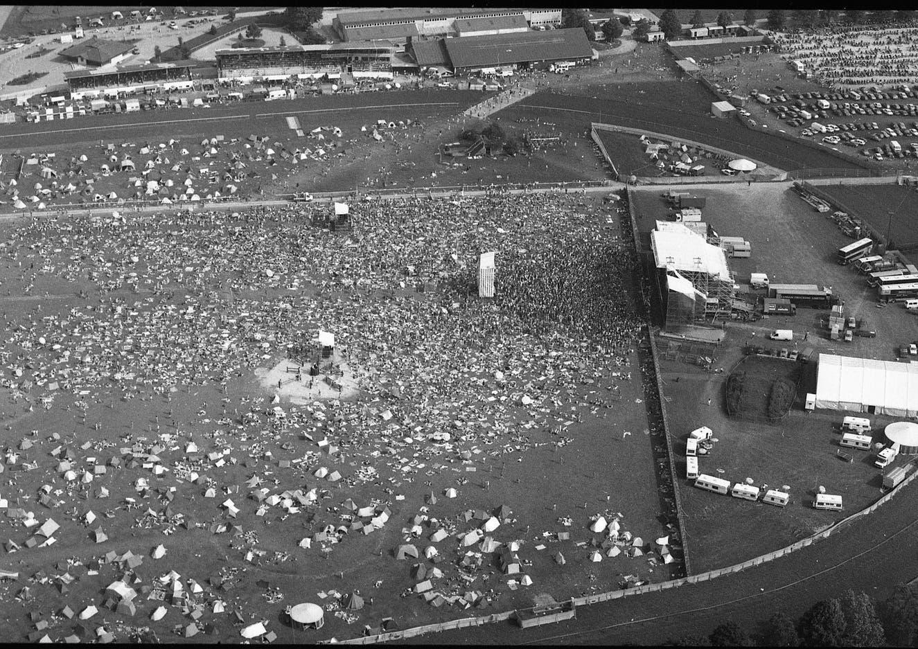Die Bühne des ersten Open Air in Frauenfeld im Jahr 1987, das damals noch «Out in the Green» hiess.