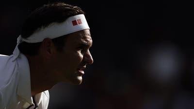 Roger Federer träumt in Wimbledon vom neunten Triumph. (Nic Bothma / EPA)