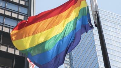 Die Regenbogenfahne gilt als Symbol für Toleranz und Frieden. (Brian Rich / AP)