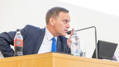 Regierungsrat Jean-Pierre Gallati mahnte am Freitag zur Vorsicht. (Fabio Baranzini)