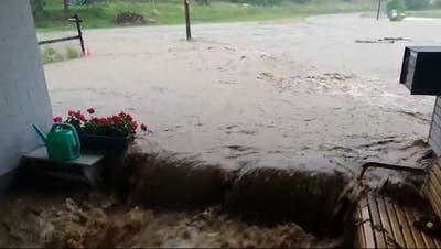 So heftig wütete das Unwetter im Aargau – die bewegendsten Videos