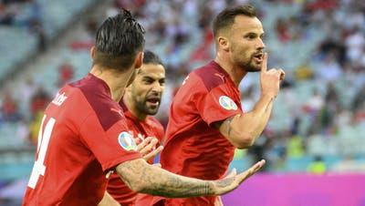 Seferovic jubelt nach seinem Treffer gegen die Türkei – gegen Frankreich braucht die Schweiz seinen Torinstinkt. (Keystone)