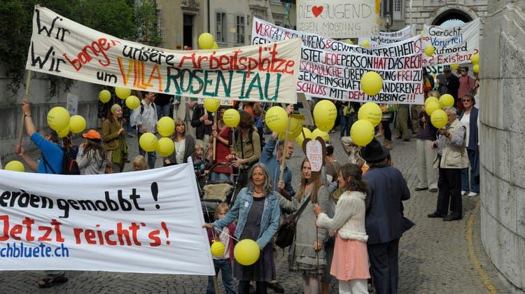 2011 demonstrierte die Gemeinschaft in Solothurn, weil sie, so der Vorwurf, gemobbt werde. (Felix Gerber)
