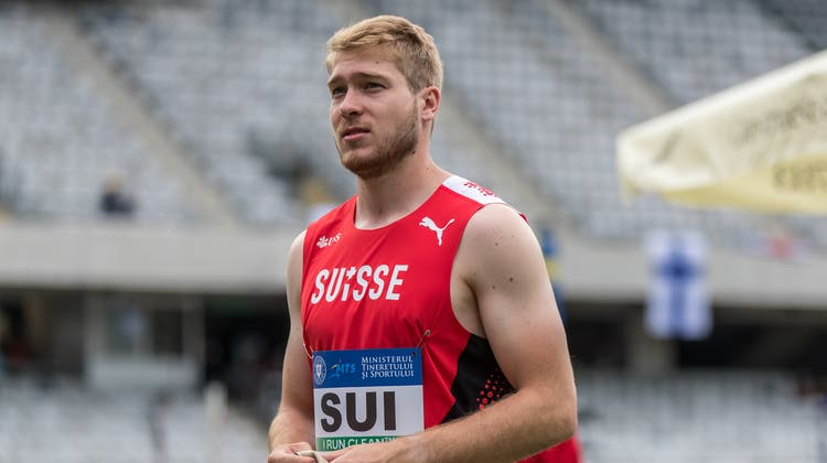 Der neue Meister Lukas Barokeaus Gränichen vertrat die Schweiz an der Team-EM vor einer Woche im Hammerwerfen. (Ulf Schiller / KEYSTONE)
