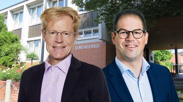 Consuelo Senn (FDP) und Steven Schraner (SVP) wollen in den Gemeinderat. (Bilder: zvg/Susanne Karrer (Fotomontage: AZ))