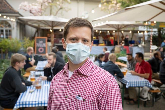 Stefan Bill ist Geschäftsführer des Biergartens in Baden.