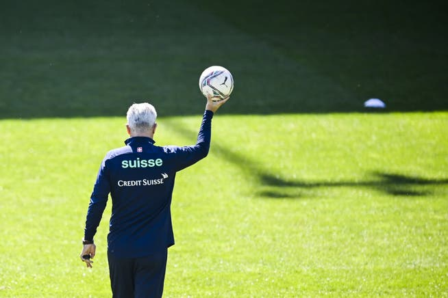 Only the main sponsor Credit Suisse is allowed to print its logo on the clothes of the national players and their coach Vladimir Petkovic.