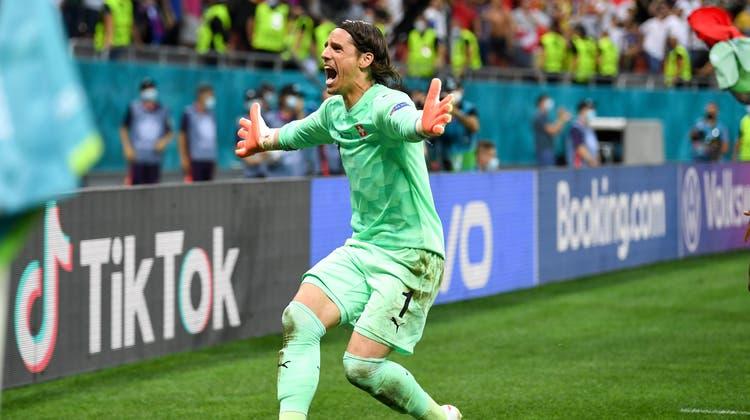 Torhüter Yann Sommer hielt den letzten Penalty gegen Frankreich und brachte die Schweiz damit ins Viertelfinale. (Bild: Claudio De Capitani / Freshfocus)