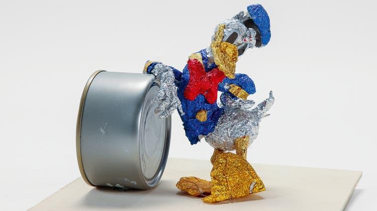 Aus Alt mach Neu: Die Primarschule Amsteg schaffte es mit ihrem «Donald Duck» aufs Podest. (Bild: PD)