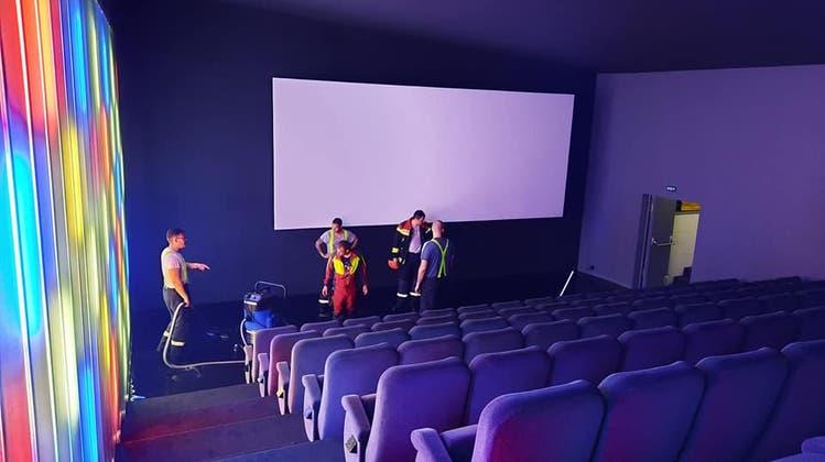 Kino Elite in Wettingen stand am Montagabend unter Wasser. (zvg)