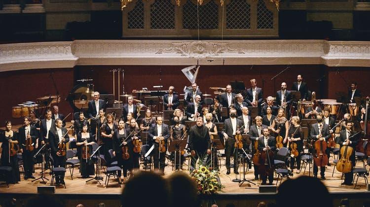 Das Sinfonieorchester Basel darf zwei Konzerte vor 600 Leuten im Stadtcasino spielen. (Roland Schmid)