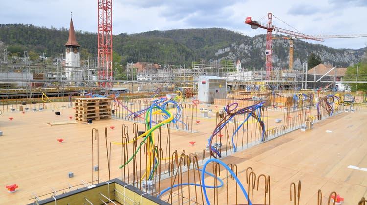 In Balsthal wird gebaut. (Bruno Kissling)