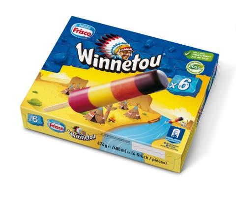 Aus Sicht des Nestlé-Joint-Ventures Froneri nicht problematisch: Die Aufmachung und der Name des «Winnetou»-Glacés.