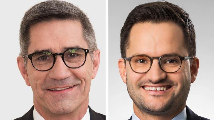 Sergio Baumann (links) wird interimistisch CEO, Michael Zürcher ist sein Stellvertreter. (Bilder: zvg / KSA)